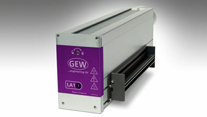 GEW, UV-Härtung, LED-Strahler