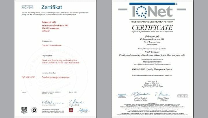 PrimCut, Qualitätsmanagement