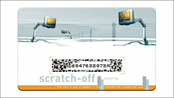 Kurz, Scratch-off