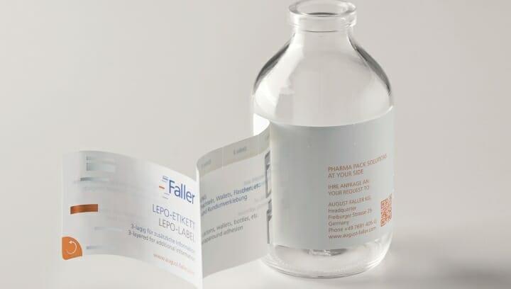 August Faller, Faller Pharma Compliance Pack, Leporello-Etikett