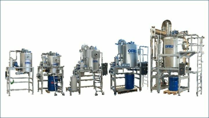 Ofru, Lösemittel Destillation