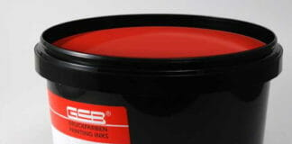 GSB-Wahl, UV-Siebdruckfarbe, migrationsarm,