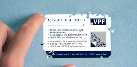 VPF, Etikettenfolien, Etikettenmaterial,