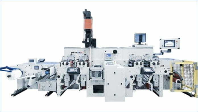 TS Converting Equipment, Focus Label Machinery, Hotmelt-Kleber, Beschichtung,