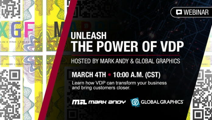 Mark Andy, Global Graphics, VDP, Webinar,