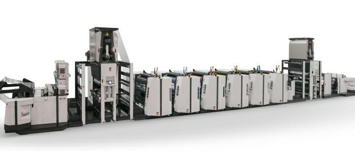 OMET, Flexodruckmaschinen, Zentralzylinder-Flexodruck,