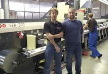 Von links: Egor Chirkov (Ogard, MPS Vertriebspartner in Russland) mit Alexander Anfimov (Geschäftsführer MDM-Flex).