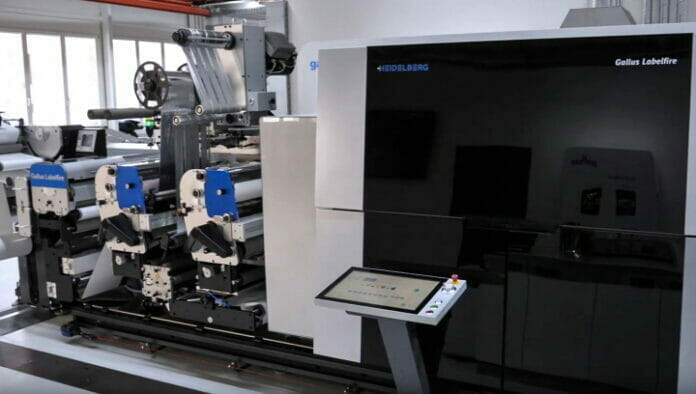 Gallus Labelfire, Inkjetdruck, Digitaldruck,