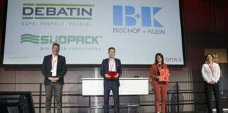 Von links: Rainer Wilke-Kasanický (Präsident DFTA), Thomas Rose (Geschäftsführer Anton Debatin, Bruchsal), Natalie Menacher (Personalreferentin [Ausbildungsleitung] Bischof+Klein, Konzell), und Nicola Kopp-Rostek (Geschäftsführerin DFTA).